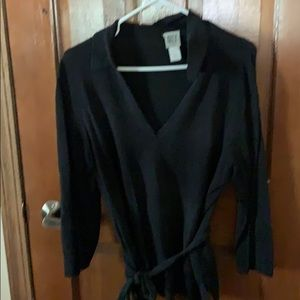 DKNY belted sweater